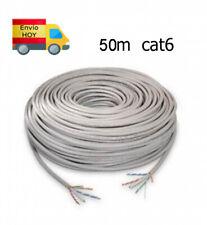 Cat 6/Solid LSZH Cable 50/m Carrete Violeta 100/% Cobre Datos Cable de Ethernet