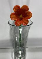 Stunning Vintage Hand Blown Murano Art Glass Long Stem Flower #7