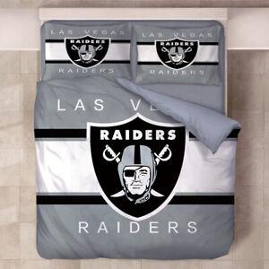 Las Vegas Raiders 3PCS Bedding Set Quilt Duvet Cover & Pillowcase Cover Gifts