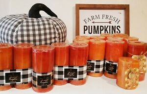 Chesapeake Bay Pumpkin Pillar Candles ~ Your Choice Scent, Size, 2 Pack, Single