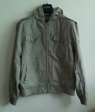 Men's Burton Original Garment Grey Hooded Jacket Size Large