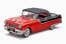 1:18 Sun Star Platino #5054 1955 Pontiac Star Jefe Convertible Red - Rareza