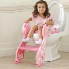 Toilettentrainer WC Sitz PU für 1-7 Kinder Toilettensitz mit Treppe