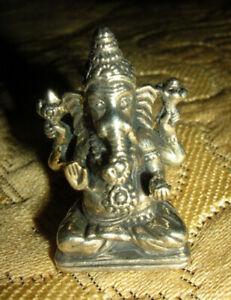 Tolle ALTE Miniatur BUDDHA-GANESHA Statue, AMULETT aus NEPAL