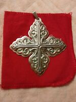 1978 Reed & Barton Sterling Silver Christmas Ornament 3 Inch