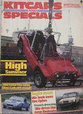 Kitcars & Specials magazine 08/1985 featuring Ginetta, Mini Cub, Eagle, Bedouin