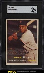 1957 Topps Willie Mays #10 SGC 2 GD