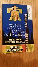 Pope Train Pass Philadelphia Manayunk Norristown Sunday 27th September