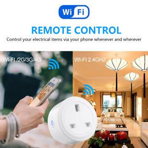Remote Control Outlet Smart Plug WiFi Socket For Amazon Alexa Google Home