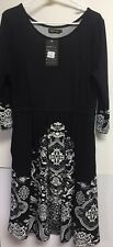 NWT Reborn woman's knit dress in black and white, size XL