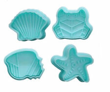 Sea Life  Plunger Cookie Cutter 4 pc Set - NEW