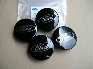 Ford FOCUS Fiesta X4 NEW Wheel C/CAP 54.5 Dia Black with silver logo Genuine