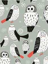 PAINTING ABSTRACT OWL PATTERN DESIGN SNOWFLAKE VECTOR POSTER PRINT BMP10558