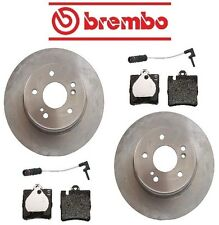 Mercedes W210 E430 1998-2002 Rear Disc Brake Rotors Pads & Sensors Kit Brembo