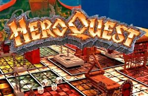 HeroQuest figures, character cards and spares - Elf, Wizard, Dwarf, Barbarian