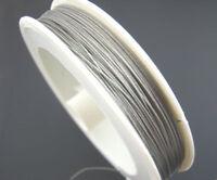 BOBINE 50 METRES - 50M FIL CABLE crinelle ARGENTE 0,45MM création bijoux perles