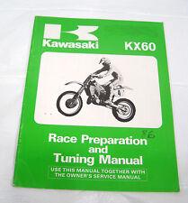1986 86 Kawasaki KX60 OEM Race Preparation and Tuning Manual 99920-1337-01