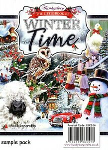 WINTER TIME CHRISTMAS Hunkydory Little Book SAMPLE Pack 24 glossy sheets