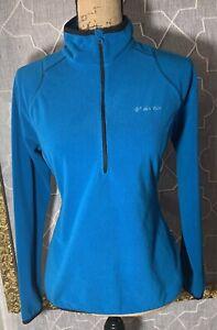 Columbia Women's Jacket Sz M Pullover 1/2 Zip Active Shirt Top LS fleece Blue