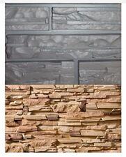 2 pcs Wall Stone Tiles Moulds Cement Bricks Maker Mold Home Garden Former Tool