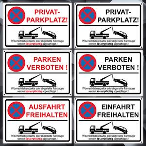 Privatparkplatz Schild Aufkleber Parken verboten Parkverbot Einfahrt freihalten