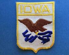 Rare 1970's Vintage Iowa Hat Jacket Travel Patch Crest A