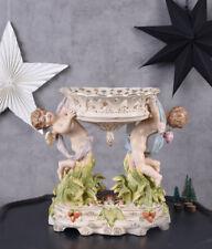 barocker Tafelaufsatz Engel Figuren antik Porzellan Amoretten