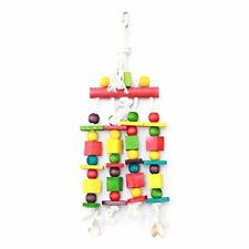 PARROT TOY WITH LARGE BLOCKS & BEADS TO STOP BOREDOM