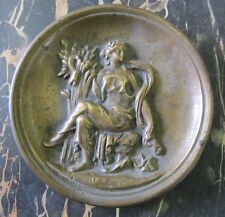 Antique Bronze Lady Decorative Art Tray high relief card tip coin trinket ring