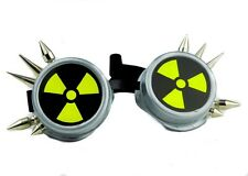 Cyber Bio Hazard Spike Goggles Radiation Sign Cosplay Resident Evil Punk Cosplay