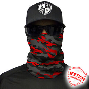 SA Salt Armour Fire Red Military Camo Face Shield. Buy 2 Get 1 Free!!