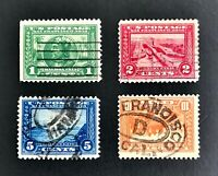 US Stamps #397-400 Panama-Pacific Exposition Issue Used