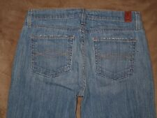 Abercrombie & Fitch Size 4 S Flare Light Blue Stretch Denim Womens Jeans