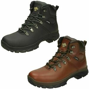 Mens Northwest Territory Lace Up Leather Waterproof Ankle Boots TESLIN
