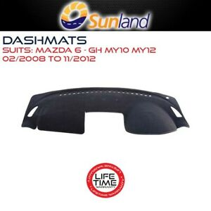 Sunland Dashmat Fits Mazda 6 GH MY10 MY12 02/2008-11/2012 All Models Mat Covers