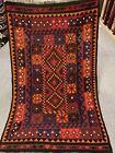 3.5X5.5 Handmade vintage Uzbek Maimana Vegetable Dye Natural Colors Wool Kellim