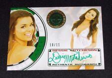 2013 Benchwarmer DESSIE MITCHESON Vegas Baby #48 Green Auto/11 PLAYBOY Maxim Hot