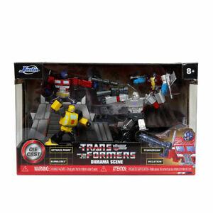 Jada Nano MetalFigs: Diorama Scene set of 4 Die-cast Transformers