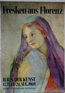 Poster Plakat - Fresken aus Florenz - Haus der Kunst - München 1969