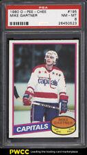 1980 O-Pee-Chee Hockey Mike Gartner ROOKIE RC #195 PSA 8 NM-MT (PWCC)