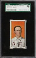 Rare 1909-11 T206 Fred Tenney Piedmont 150 New York SGC 60 / 5 EX
