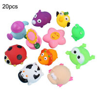 10/20PCS Mixed Cartoon Kids Bath Rubber Pool Toys Baby Shower Time Sound Toy Lot