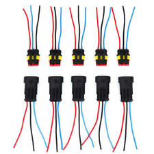 10 Set 2+3+4 Pin Way Car Super Seal Waterproof Electrical Wire Connector Plug
