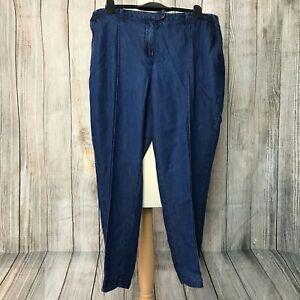 Gorgeous Blue Denim BURTON Elasticated Jeggings Size 44 (UK 16)