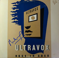 SIGNED ULTRAVOX RAGE IN EDEN LP ALBUM COVER MIDGE URE NICE!