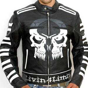 4LIMIT Sports Biker Jacke Leder Rocker Chopper Motorradjacke Motorrad Lederjacke