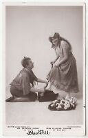 ELLALINE TERRISS & SEYMOUR HICKS - in Bluebell - 1906 used Real Photo postcard