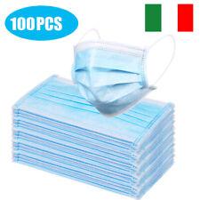 100Pez Mascherin2 Mascher2 Filtrabili≥95% Traspiranti Sicurezza Blu Italia S9E2