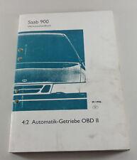 Werkstatthandbuch Saab 900 Automatik Getriebe OBD II Modelljahr ab 1996