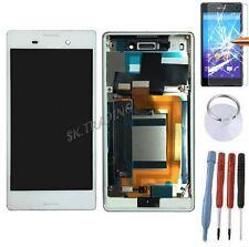 ECRAN LCD VITRE TACTILE SUR CHASSIS BLOC COMPLET SONY XPERIA M4 AQUA DUAL BLANC